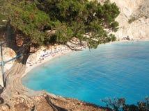 Strand Porto Katsiki - Lefkas - Griechenland Stockfotografie