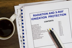 Ionizing Radiation  Protection. Mny uses in the oil and gas industry Stock Photos