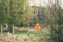 Ionizing Radiation sign Stock Image