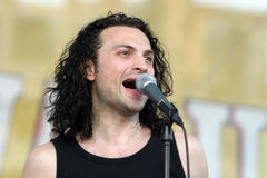 Ionut Ruscior. Is the vocal for the romanian band called Publika stock photos