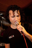 Ionut Ruscior. Is the vocal for the romanian band called Publika royalty free stock photography