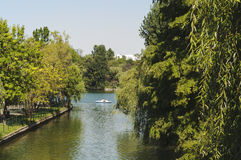 IOR公园看法在星期天下午的 库存图片
