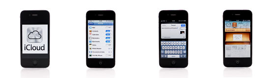 IOS 5.0 de Iphone Fotografia de Stock Royalty Free