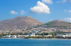 Ios - The coast near Chora town on the Ios island in the Aegean Sea Royalty Free Stock Photo