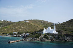 Ios, Cyclades, Greece. Ios is a harbour in the Cyclades. It is located on the island of Ios, Greece Stock Photography