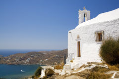 Ios de Griekse Kerk van het Eiland, Griekenland Royalty-vrije Stock Fotografie