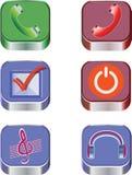 IOS dell'icona Innesta l'icona Immagine Stock