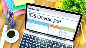 IOS Developer Wanted. 3D. Royalty Free Stock Images