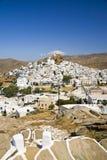 Ios Dorp, Ios Eiland, Griekenland Stock Afbeelding