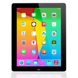 IOS 7 1 2 homescreen em uma exposição do iPad Foto de Stock