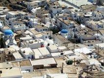 Ios i Grekland claassic arkitektur fotografering för bildbyråer