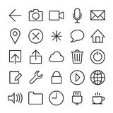 Ios 7 icons set. Vector icons set in ios 7 style. EPS8 Royalty Free Stock Photography