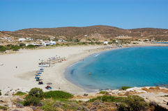 Ios island beach view Royalty Free Stock Photos