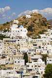Ios Island, Greece. Ios Island main town, Cyclades, Greece Stock Images