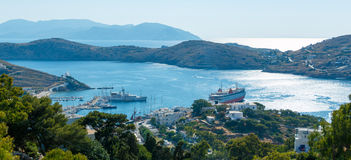 Ios island harbor Stock Image