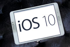 Ios 10 logo on apple official home page Stock Images