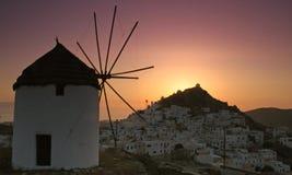 Ios miasteczko w Grecja Obraz Royalty Free