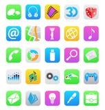 Ios 7 stijl mobiele app pictogrammen die op witte bac worden geïsoleerd Royalty-vrije Stock Afbeeldingen