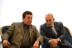 Iosif Kobzon and Aslambek Aslakhanov Stock Photo