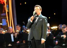 Iosif Kobzon, Soviet and Russian pop singer baritone, musical and public figure, teacher. Russian state Duma Deputy II-VI convoc. MOSCOW, RUSSIA - FEBRUARY 24 Stock Photos
