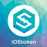 IOStoken IOST vektorlogo En säkra Scalable Blockchain för smart service och crypto valuta för blockchain vektor illustrationer