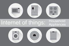 IoT - ícones dos aparelhos eletrodomésticos Imagem de Stock Royalty Free
