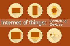 IoT - ícones dos dispositivos de controlo Imagem de Stock Royalty Free