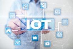 IOT Διαδίκτυο της έννοιας πράγματος Πολυδιαυλικό σε απευθείας σύνδεση δίκτυο επικοινωνίας ψηφιακά 4 τεχνολογία 0 Στοκ εικόνα με δικαίωμα ελεύθερης χρήσης
