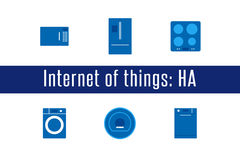 IoT - εικονίδια εγχώριων συσκευών Στοκ Εικόνες