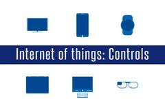 IoT - ελέγχοντας εικονίδια συσκευών Στοκ Φωτογραφίες