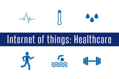 IoT - υγειονομική περίθαλψη Στοκ φωτογραφία με δικαίωμα ελεύθερης χρήσης