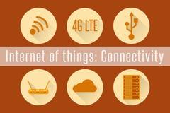 IoT - взаимодействие Стоковое Изображение
