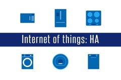 IoT - значки бытовых устройств Стоковые Изображения