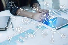 IOT Интернет вещей Автоматизация и современная концепция технологии Стоковая Фотография RF