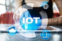 IOT 事概念互联网  多途径网上通讯网络 库存图片