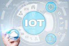 IOT 事概念互联网  多途径网上通讯网络 库存照片