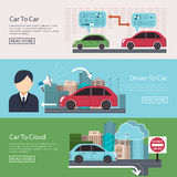Iot in Automotive concept Stock Photos