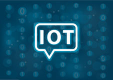 IOT  background. Internet of things concept with binary background. Stock Photography