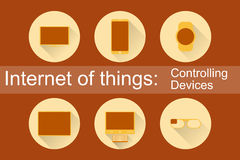 IoT - Controlling Devices Icons Royalty Free Stock Image
