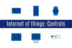 IoT - Controlling Devices Icons Stock Photos