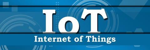 IoT - internet av horisontalteknisk bakgrund för saker vektor illustrationer