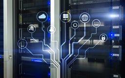 IOT internet av saker, telekommunikationbegrepp Fotografering för Bildbyråer