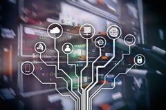 IOT internet av saker, telekommunikationbegrepp vektor illustrationer