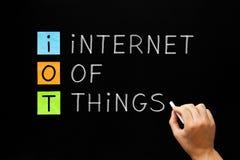 IOT - Internet del concetto di cose immagine stock