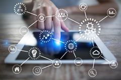 IOT Internet rzeczy Automatyzacja i nowożytny technologii pojęcie obraz royalty free