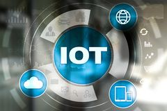 IOT. Internet of Thing concept. Multichannel online communication network digital 4.0. Technology internet wireless application development mobile smartphone Royalty Free Stock Photos
