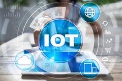 IOT. Internet of Thing concept. Multichannel online communication network digital 4.0. Technology internet wireless application development mobile smartphone Stock Photos