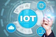 IOT. Internet of Thing concept. Multichannel online communication network digital 4.0. Technology internet wireless application development mobile smartphone Stock Image
