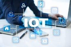 IOT. Internet of Thing concept. Multichannel online communication network digital 4.0. Technology internet wireless application development mobile smartphone Stock Photo
