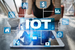 IOT. Internet of Thing concept. Multichannel online communication network Royalty Free Stock Photography